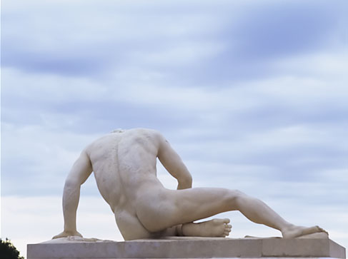 Here is a outdoor sculpture at Versaille. statue.jpg. Classic male nude.