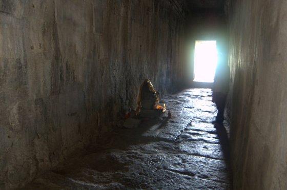 buddha in hallway